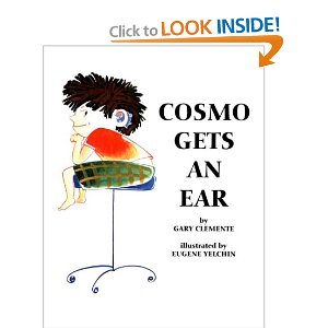 Hearing aid cookie book Cosmo Gets an Ear