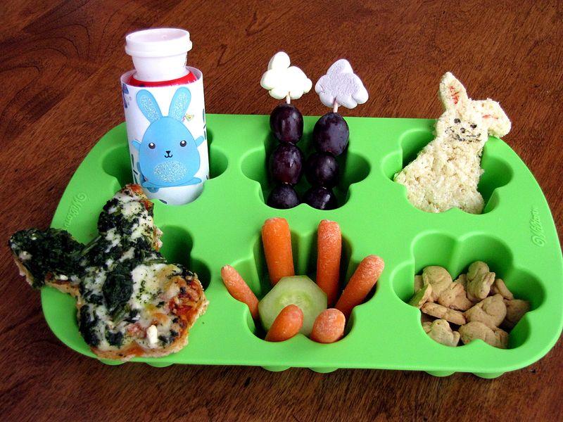 Bunny muffin tin lunch
