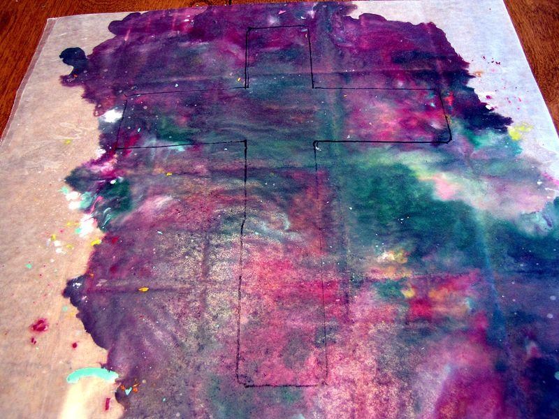 Crayon cross tracing