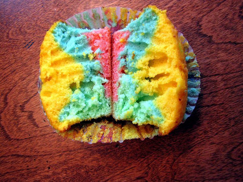 Nest inside cupcake