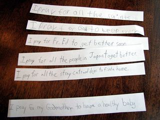 Prayer strips