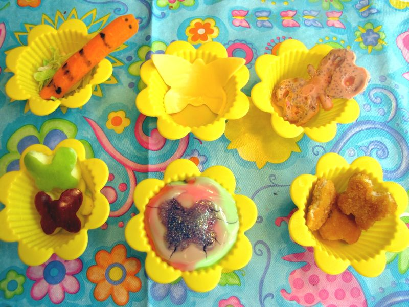Butterfly muffin tin lunch