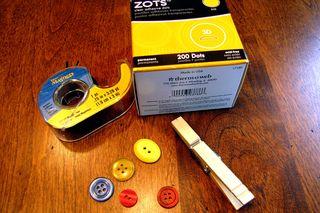 Clothespin buttons supplies