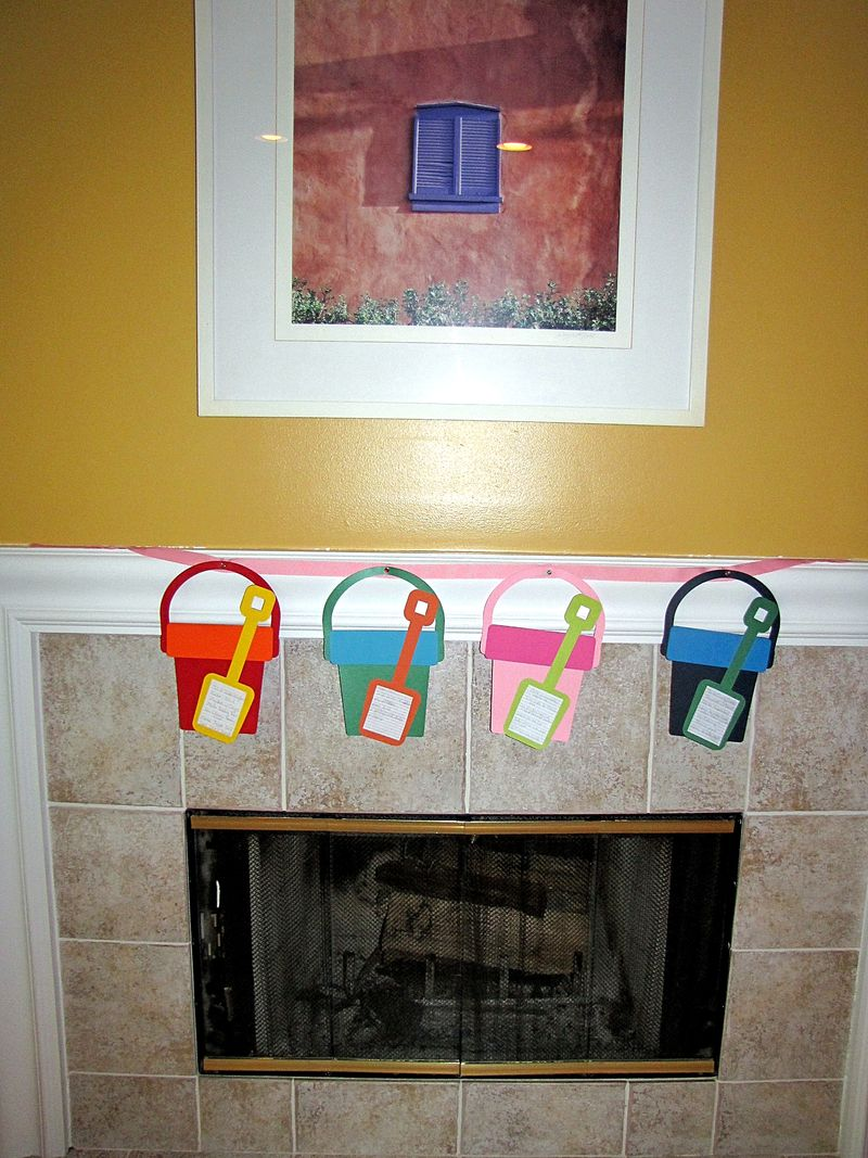 Summer bucket list banner fireplace