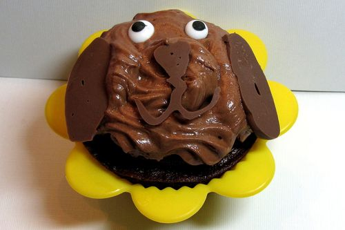 Nutella cupcake puppy dog