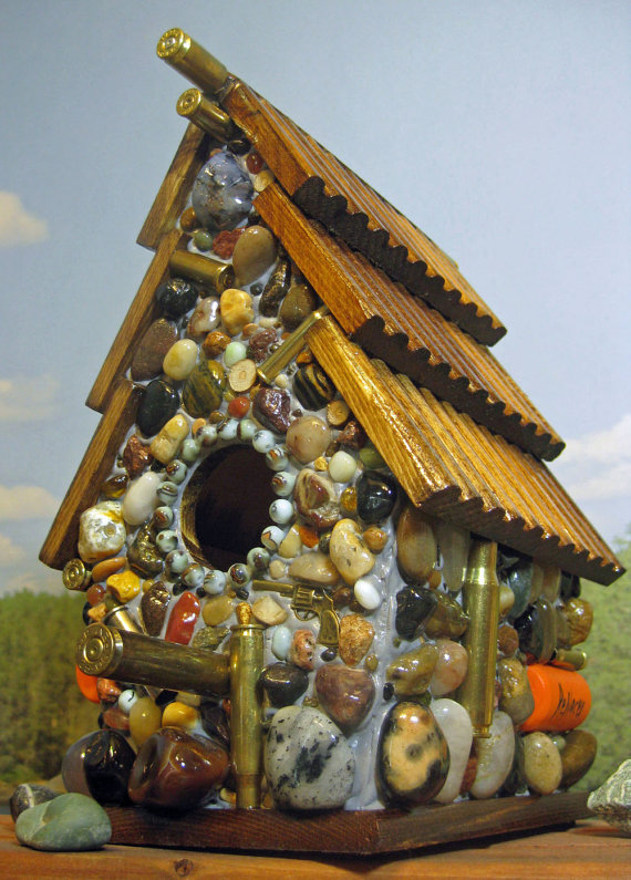 Father's day bullet bird house
