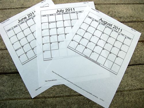 Bulletin board redo summer calendar