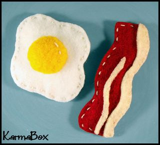 Karma box bacon and eggs hair clip