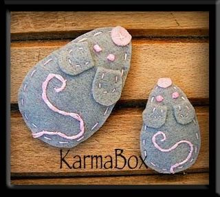 Karma box mice hair clips