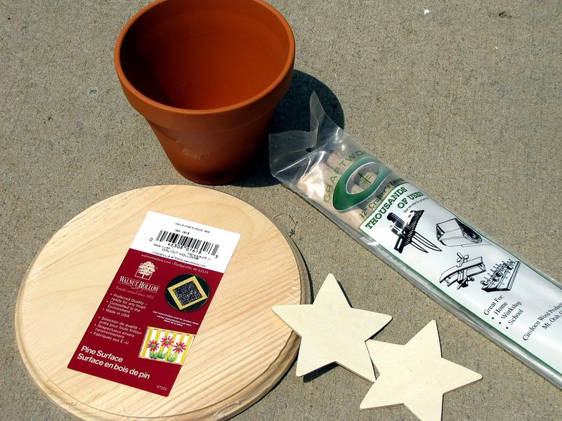 Partiotic father's day gift sun dial supplies