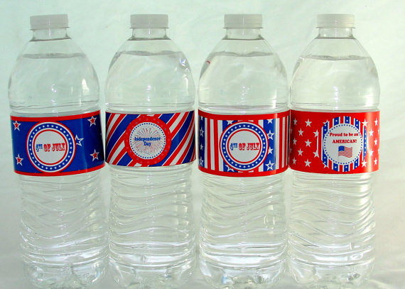 Fourth of july water bottle printables from thats a wrap 2