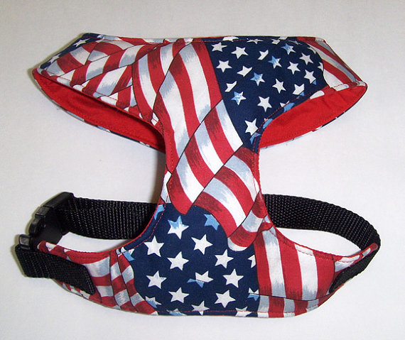 Fourth of july etsy dog harness from Itlgto