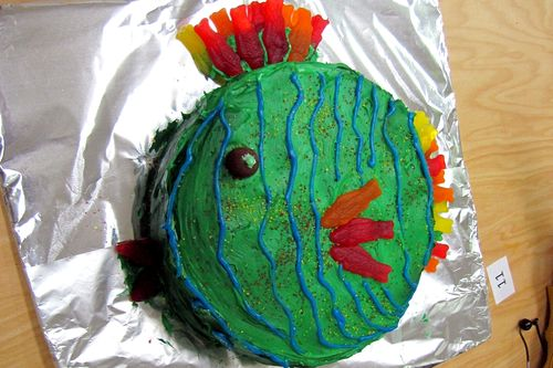 Humane society fundraiser father son cub scout cake bake fish cake