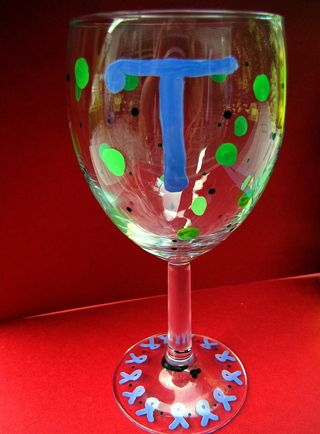 Christmas in july painted personalized wine glass finished