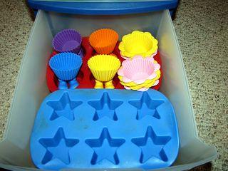 Food craft muffin tin organized