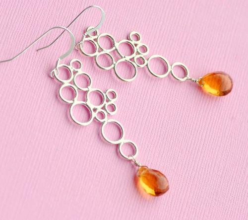 MD citrine Buble earrings