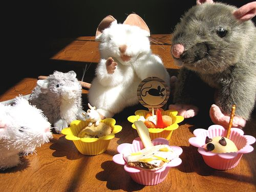 Mouse cookie muffin tin lunch with rats 2