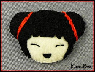 Karma box felt fuzzies chinese new year girl