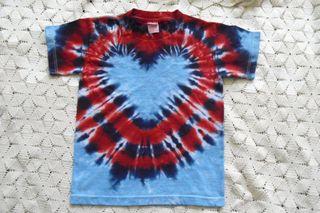 Fourth of july heart tie dye by Bris Tie Dyes
