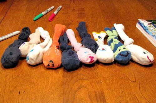 Humane society diy cat toy finished catnip fish from baby socks