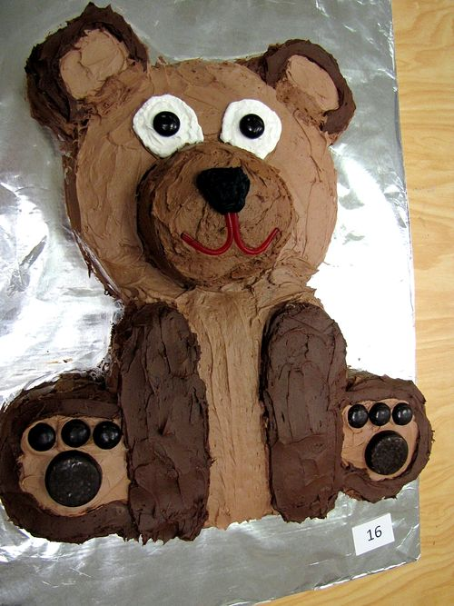 Humane society fundraiser father son cub scout cake bake bear cake