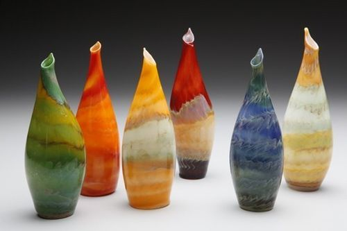 Vase stalgmite glass from jim Loewer