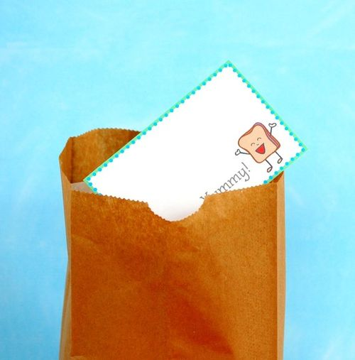 Back to school etsy shopping supplies lunch note cards