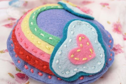 Etsy rainbow felt tooth fairy pillow from sprinkle baby
