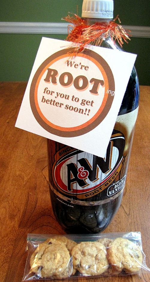 Rootbeer Get well present and free printable