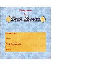 Cub scout candy bar wrapper - Page 001