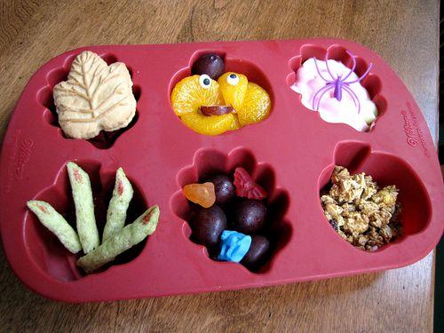 Halloween muffin tin lunch