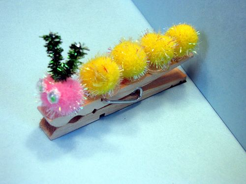 Clothespin caterpillar finished