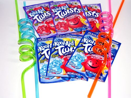 Kool aid and straws