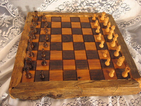Father's Day 1830's Wood Chess Set