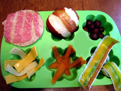 A Bad Case of Stripes Muffin Tin Lunch themed food