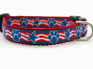 Fourth of july etsy patriotic dog collar from nola and spencer