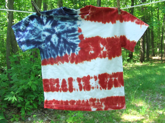 Fourth of july flag tie dye from Twirly Toes