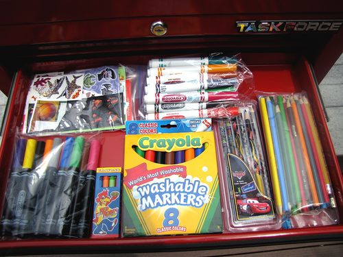Cub scout belt loop art tool box drawer 3