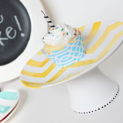 Chevron cupcake plate from aedriel originals