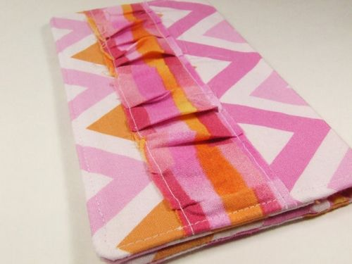 Chevron ruffled checkbook cover from sass rocket