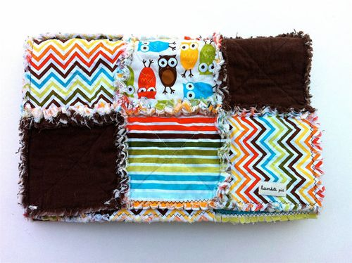 Chevron rags to riches baby blanket from humble pie originals