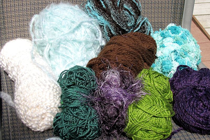 Christmas in july yarn skeins