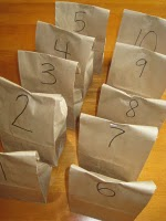 Blog love wednesday 6 paper bag game numbered