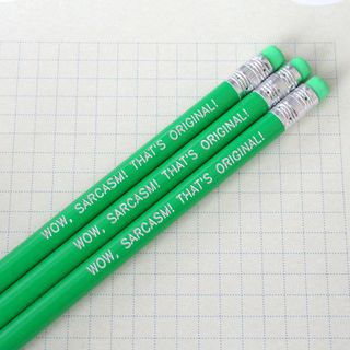 Back to school pencils from the carbon crusader sarcasm green