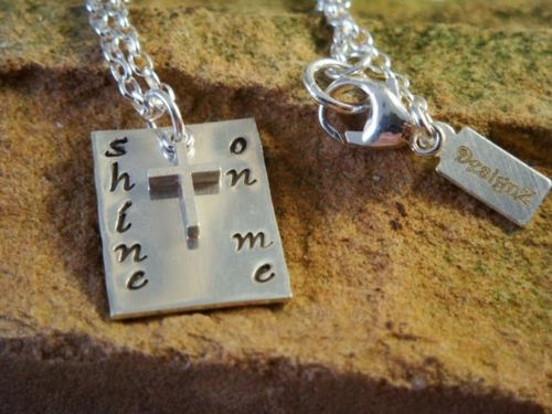First communion shine on me stamped necklace from k cannucciari