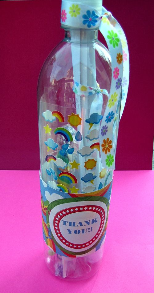 Water bottle rainbow thank you how to complete