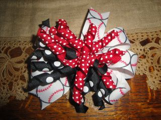 Sewfunfor you baseball corker bow