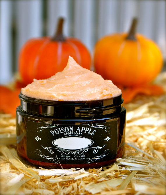 Etsy halloween toasted pumpkin seed sugar scrub from poison apple potions